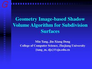 Geometry Image-based Shadow Volume Algorithm for Subdivision Surfaces