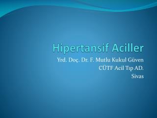 Hipertansif  Aciller