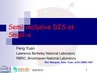 Semi-inclusive DIS at Small-x