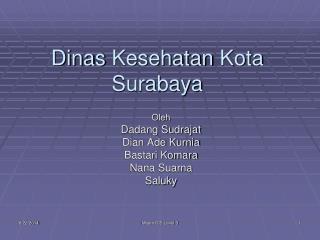 Dinas Kesehatan  Kota Surabaya