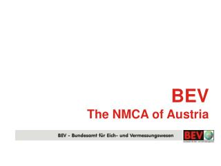 BEV The NMCA of Austria