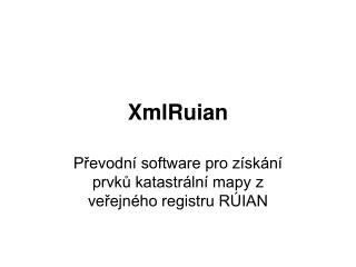 XmlRuian