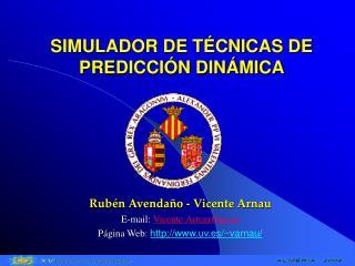 SIMULADOR DE TÉCNICAS DE PREDICCIÓN DINÁMICA