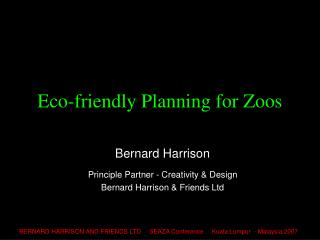 Eco-friendly Planning for Zoos