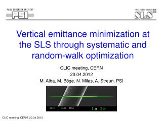 Vertical emittance minimization at the SLS through systematic and random-walk optimization