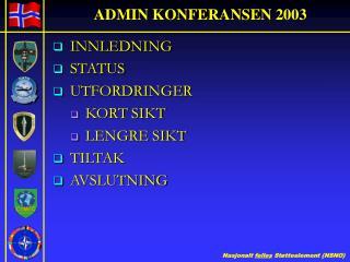 ADMIN KONFERANSEN 2003
