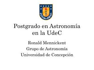 Postgrado en Astronomía en la UdeC