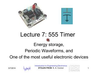 Lecture 7: 555 Timer