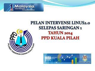 PELAN INTERVENSI LINUS2.0 SELEPAS SARINGAN 1 TAHUN 2014 PPD KUALA PILAH