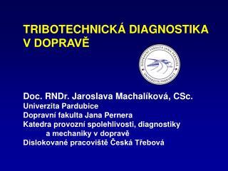 Tribotechnická diagnostika: