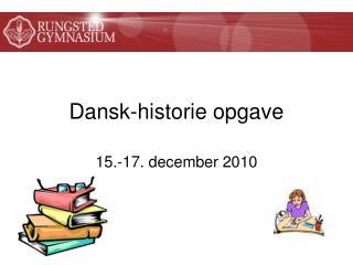Dansk-historie opgave