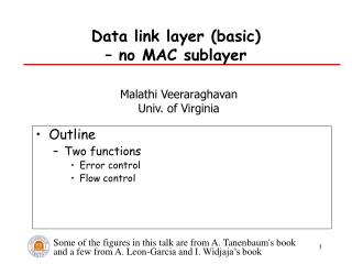 Data link layer (basic)  – no MAC sublayer