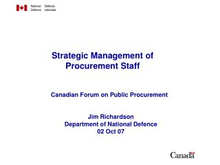 Strategic Management of  Procurement Staff