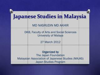 Japanese Studies in Malaysia