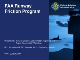 FAA Runway Friction Program