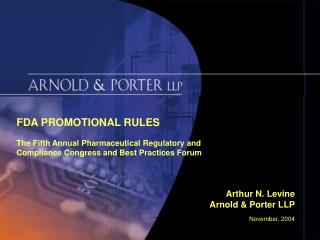 FDA PROMOTIONAL RULES