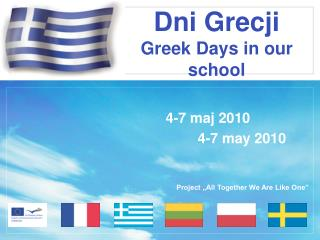 Dni Grecji Greek Days in our school