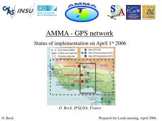 AMMA - GPS network