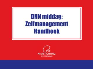 DNN middag: Zelfmanagement Handboek