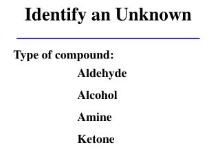 Identify an Unknown