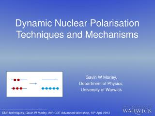 Dynamic Nuclear Polarisation Techniques and Mechanisms