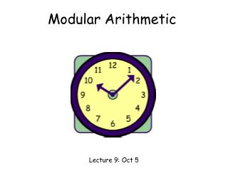 Modular Arithmetic