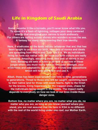 Life in KSA