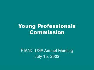 Young Professionals Commission