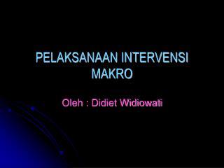 PELAKSANAAN INTERVENSI MAKRO