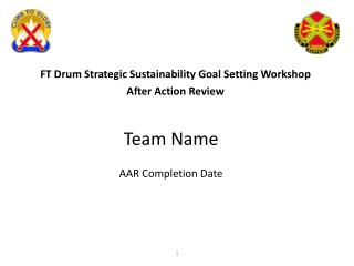 Team Name AAR Completion Date
