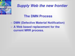 Supply Web the new frontier