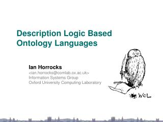 Description Logic Based  Ontology Languages