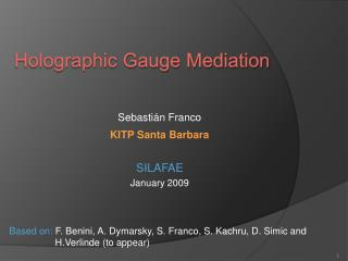 Holographic Gauge Mediation