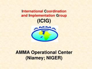 I nternational  C oordination  and  I mplementation  G roup (ICIG) AMMA Operational Center