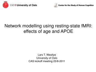 Network modelling using resting-state fMRI:  effects of age and APOE