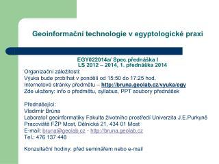 Geoinformační technologie v egyptologické praxi