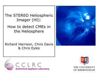 The STEREO Heliospheric Imager (HI):  How to detect CMEs in the Heliosphere