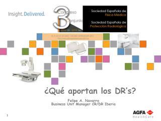 Felipe A. Navarro Business Unit Manager CR/DR Iberia