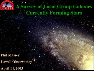 A Survey of Local Group Galaxies Currently Forming Stars