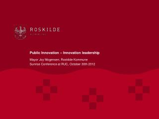 Public Innovation – Innovation leadership