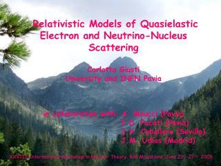 Relativistic Models of Quasielastic Electron and Neutrino-Nucleus Scattering Carlotta Giusti