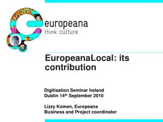 EuropeanaLocal: its contribution