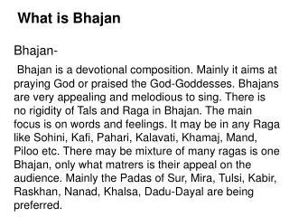 What is Bhajan