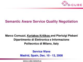 Semantic Aware Service Quality Negotiation