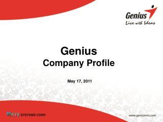 Genius Company Profile