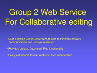 Group 2 Web Service  For Collaborative editing