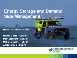 Energy Storage and Demand Side Management