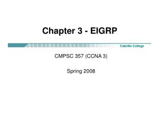 Chapter 3 - EIGRP