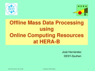 Offline Mass Data Processing using  Online Computing Resources at HERA-B