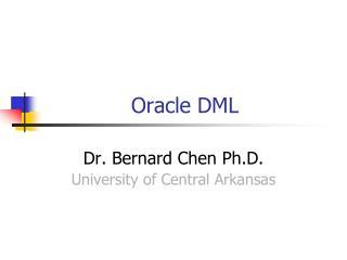 Oracle DML